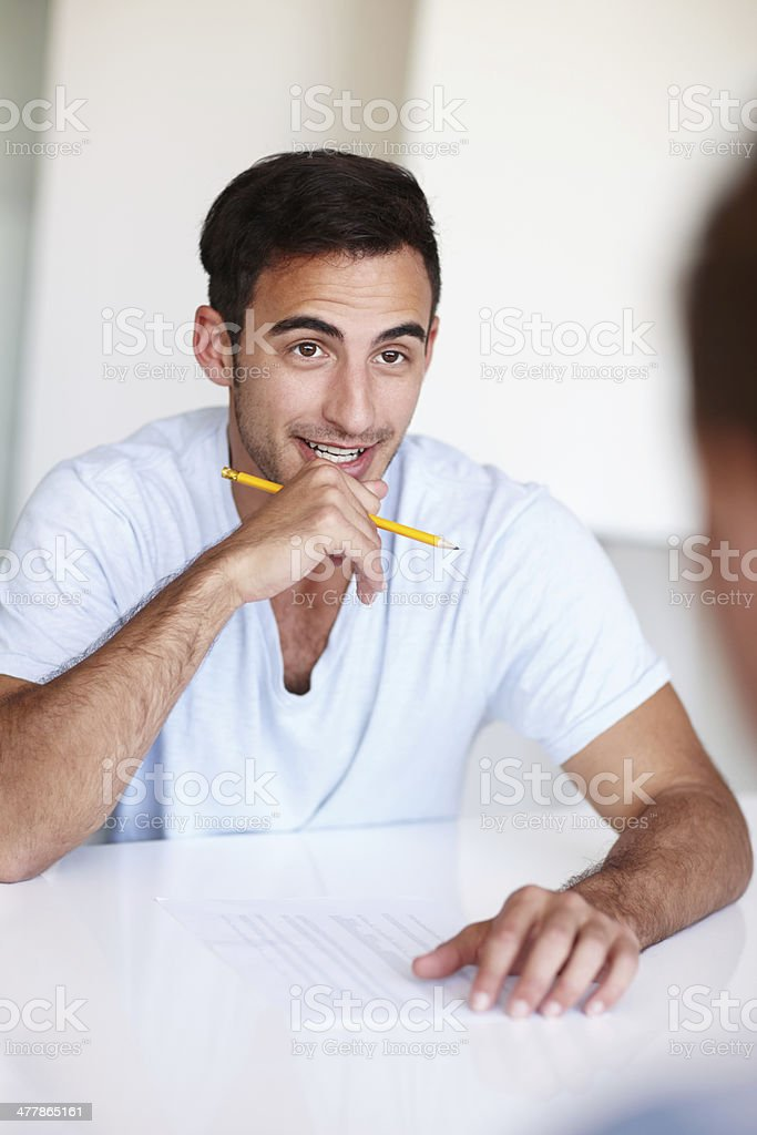 What are you thinking? royalty-free stock photo