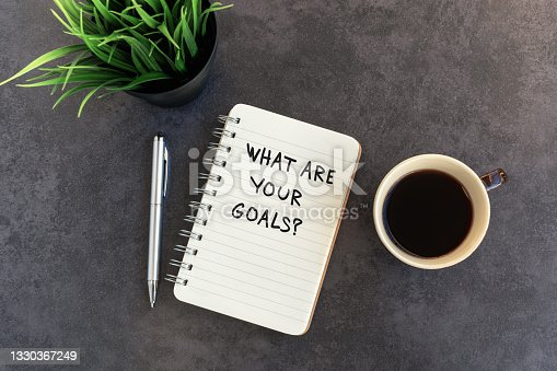 istock What Are Your Goals? text on note pad 1330367249