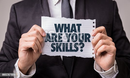 1063657732 istock photo What Are Your Skills? 665267930