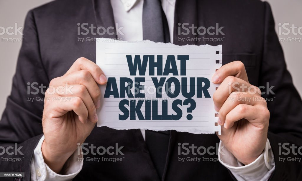 What Are Your Skills? stock photo