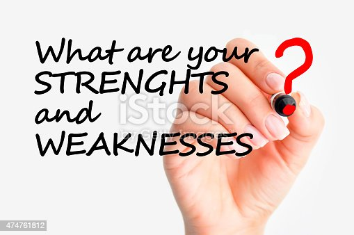 istock What are your strengths and weaknesses interview question 474761812