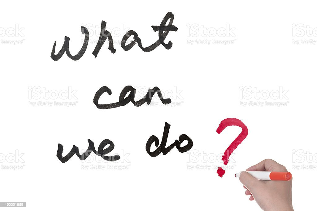 What can we do? stock photo