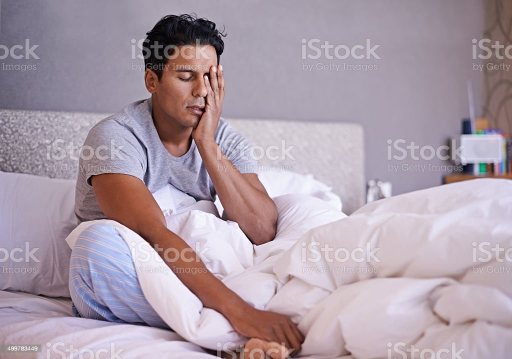 What did I do last night? stock photo