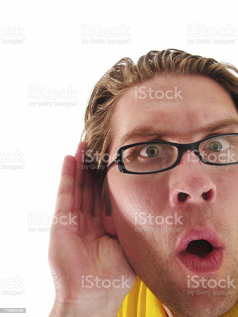 What did you say? royalty-free stock photo