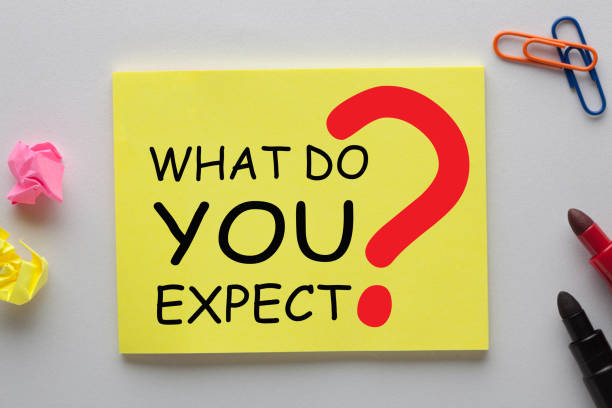 What Do You Expect What Do You Expect question on note with marker pen and various stationery. Business concept antedate stock pictures, royalty-free photos & images