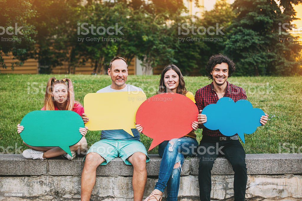 What do you have to say? stock photo