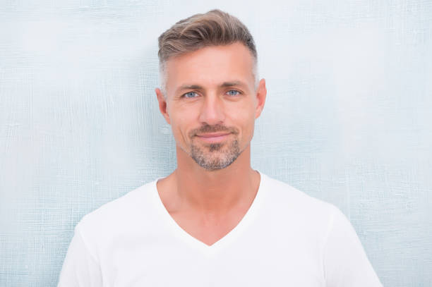 What does it mean being macho. Bristle and facial hair. Natural beauty. Man attractive well groomed facial hair. Barbershop concept. Grizzle hair. Barber hairdresser. Man mature good looking model stock photo