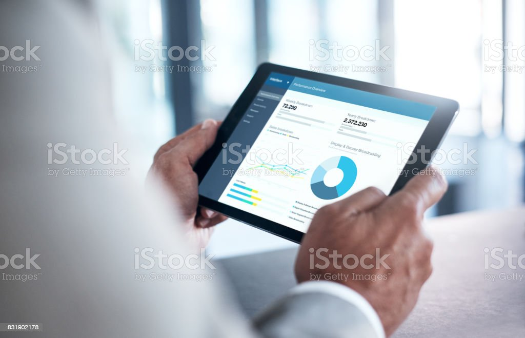 What does the future hold for business? stock photo