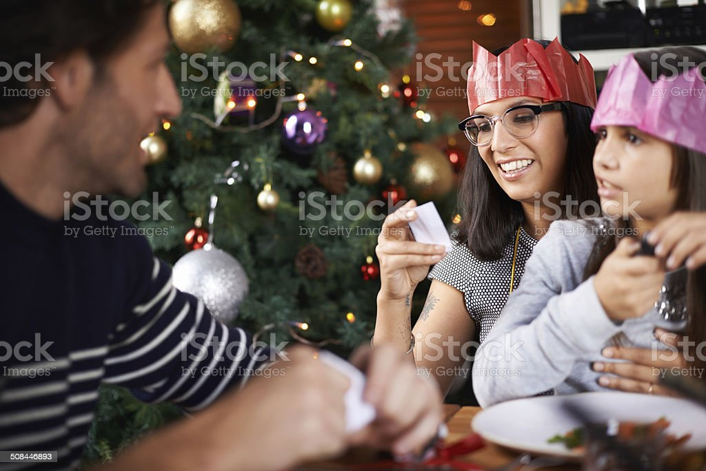 What does your cracker's joke say mom? royalty-free stock photo