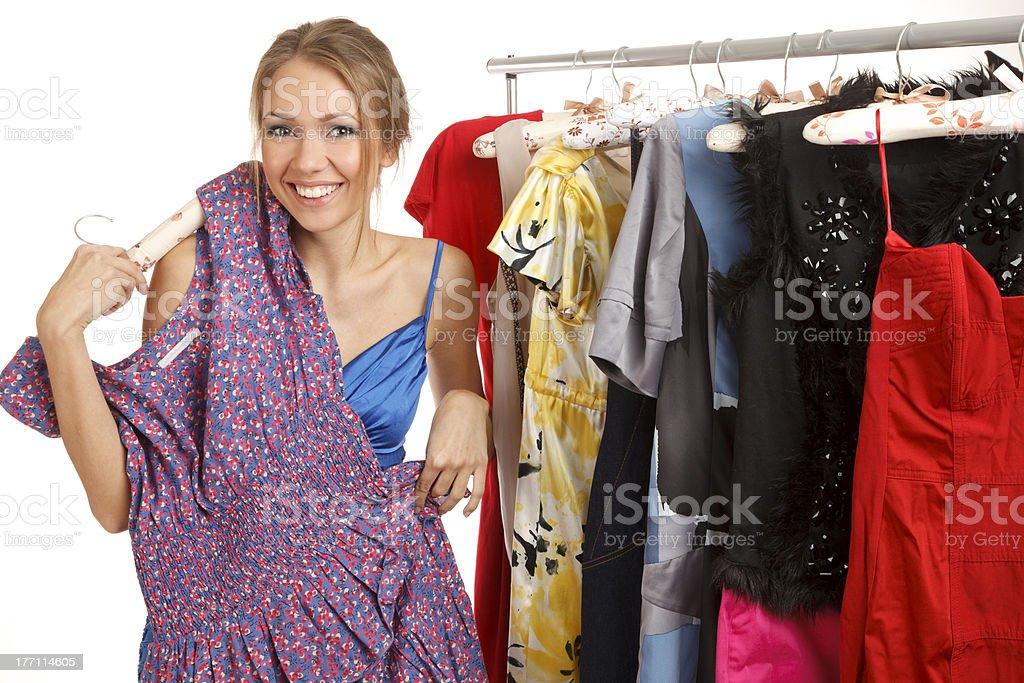 What dress should I choose stock photo