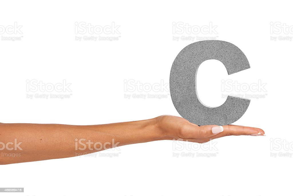 'C' what I did there... stock photo