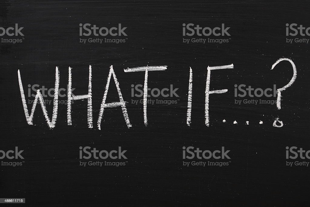 What If? stock photo