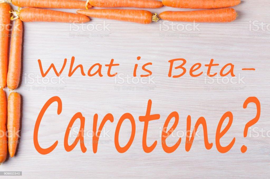 What is Beta Carotene stock photo