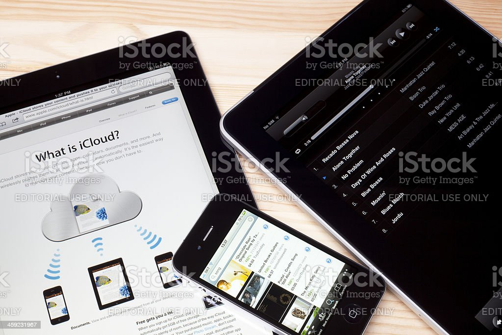 What is iCloud royalty-free stock photo