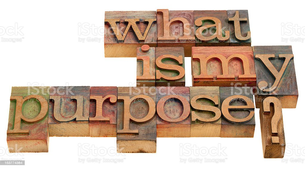what is my purpose royalty-free stock photo