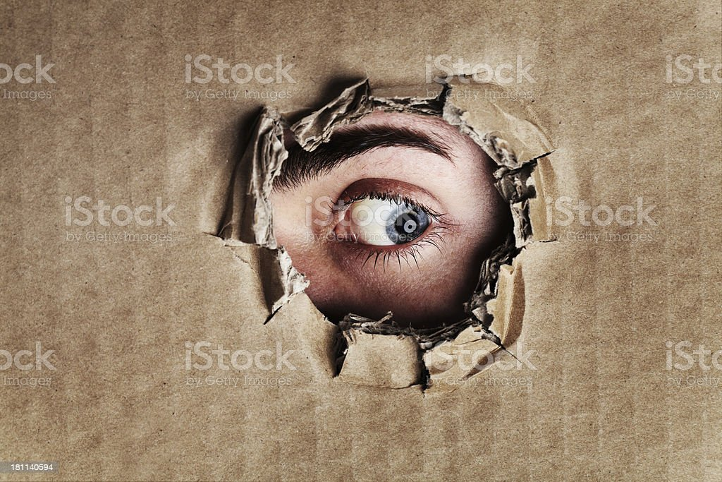 What is on the other side? stock photo