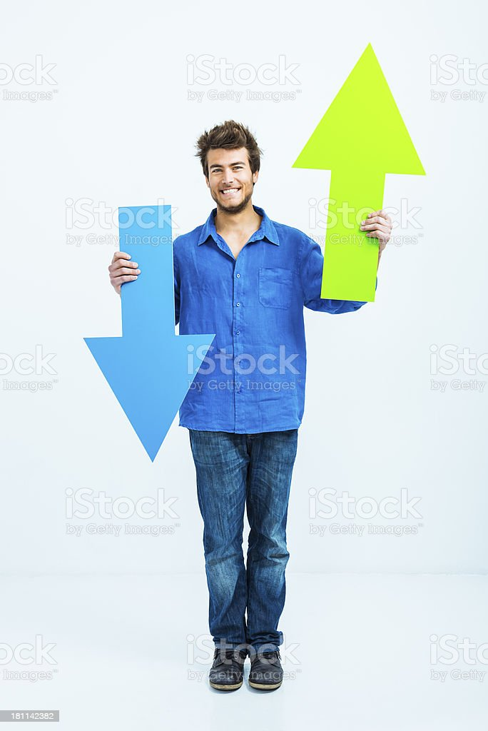 What is the best choice? Up and down stock photo