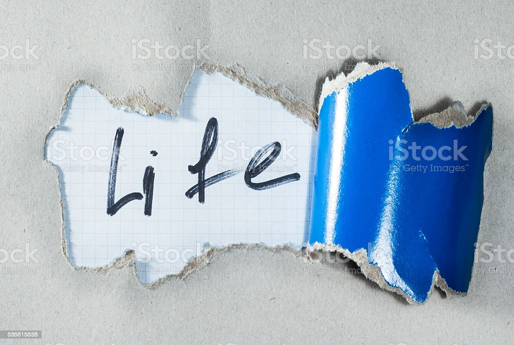 What is the meaning of life stock photo