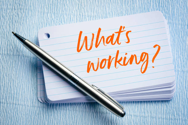 What is working? stock photo