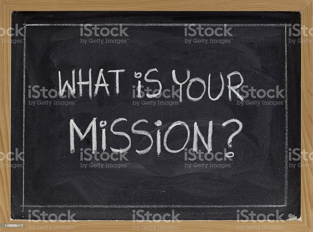 what is your mission? royalty-free stock photo