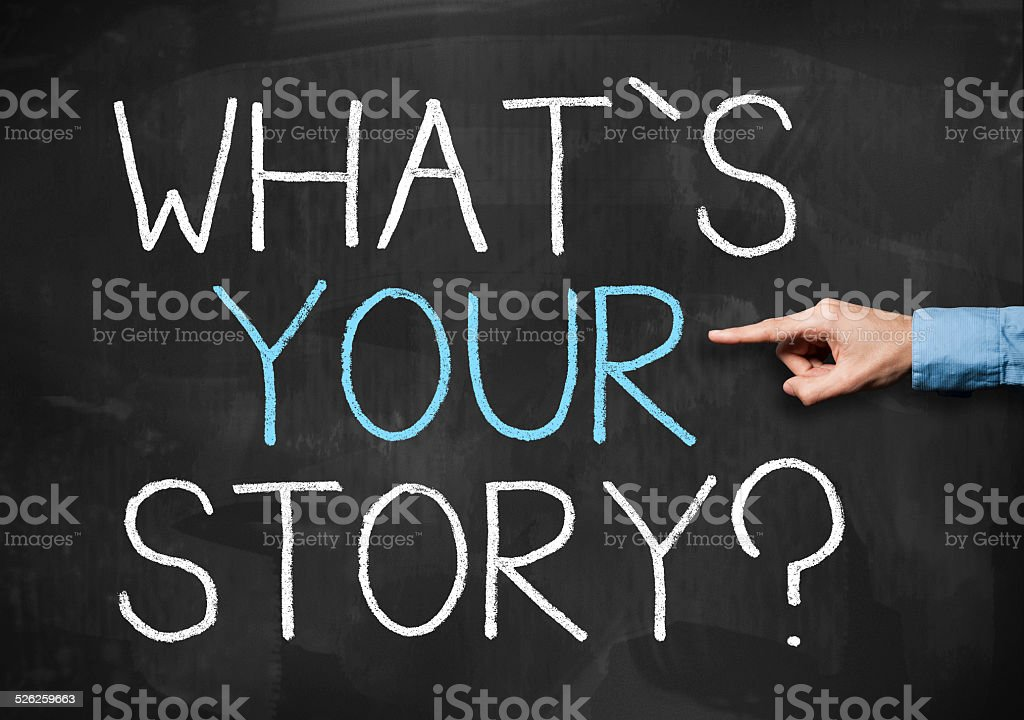 What is your story? / Blackboard (Click for more) stock photo