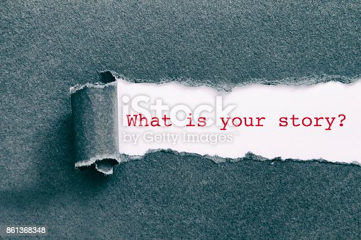 What is your story written under torn paper.