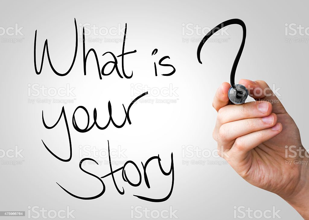 What is your story written on the Wipe board stock photo