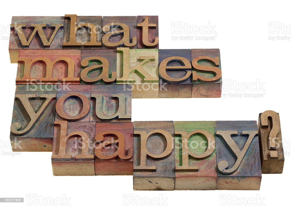 What makes you happy? royalty-free stock photo