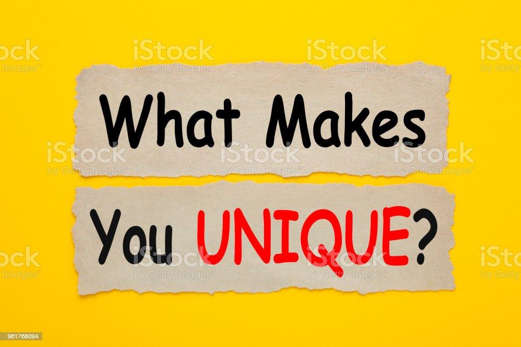 What Makes You Unique Concept stock photo