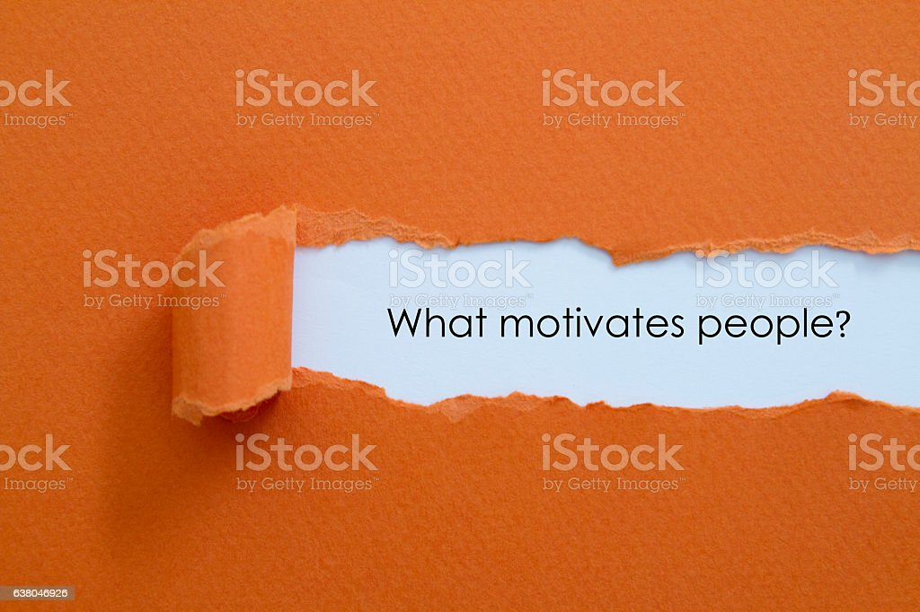 What motivates people stock photo