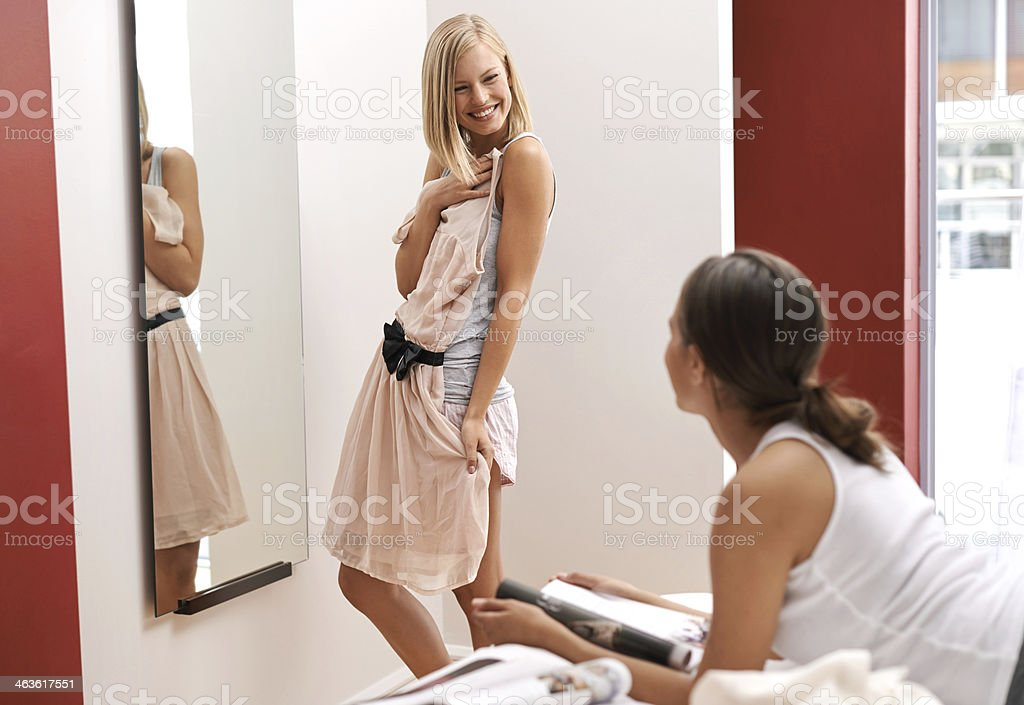 What shall I wear? stock photo