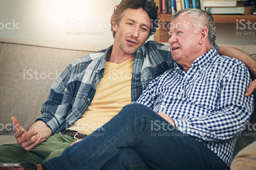What should I do, Dad? stock photo