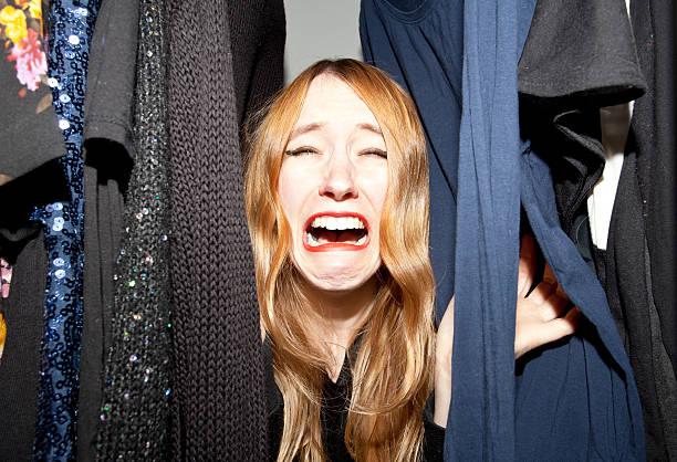 what should i wear? - pailletten shirt stock-fotos und bilder