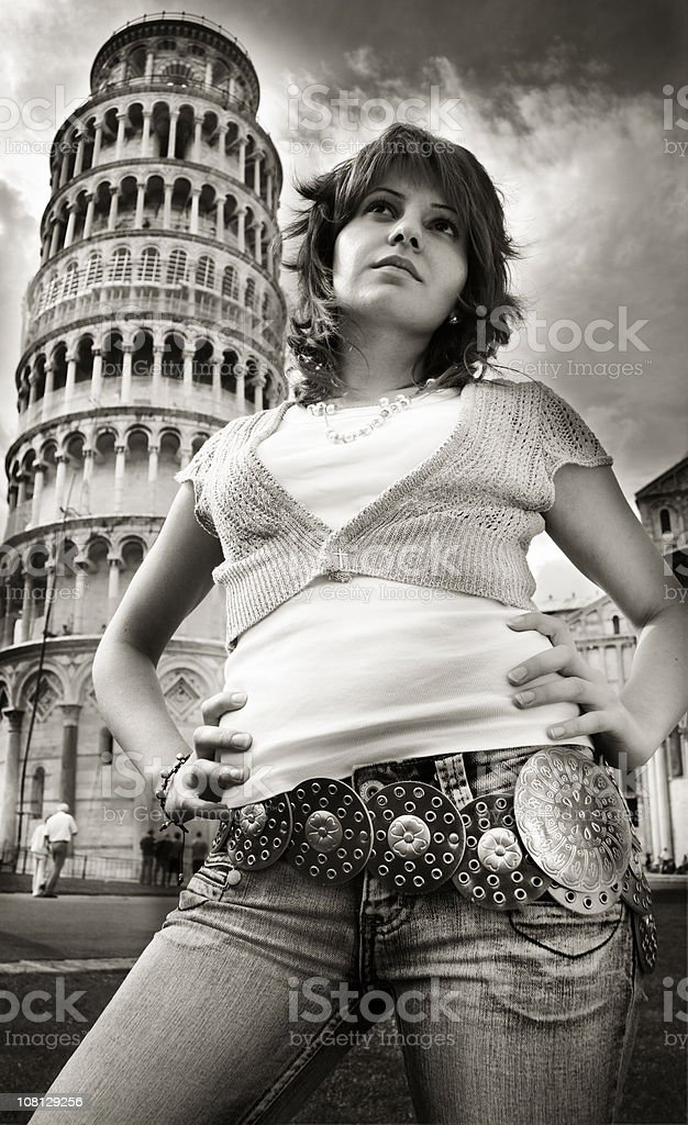 'what the hell am I doing in Pisa?' stock photo