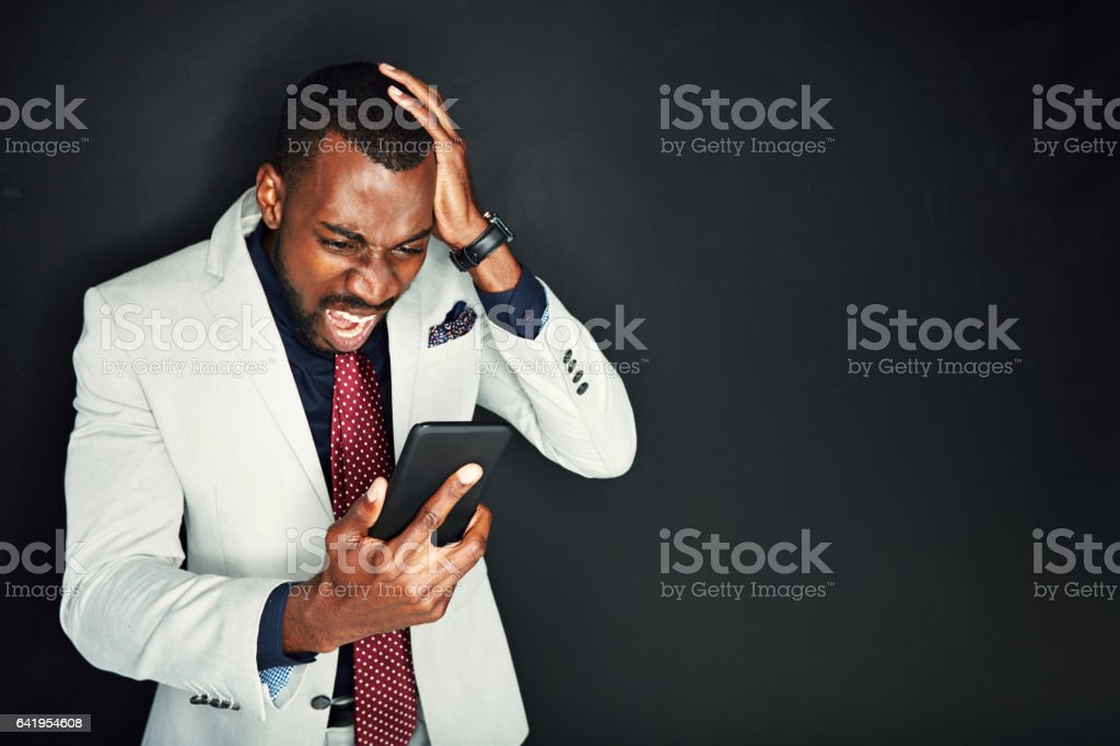 What the hell is wrong with this thing! stock photo