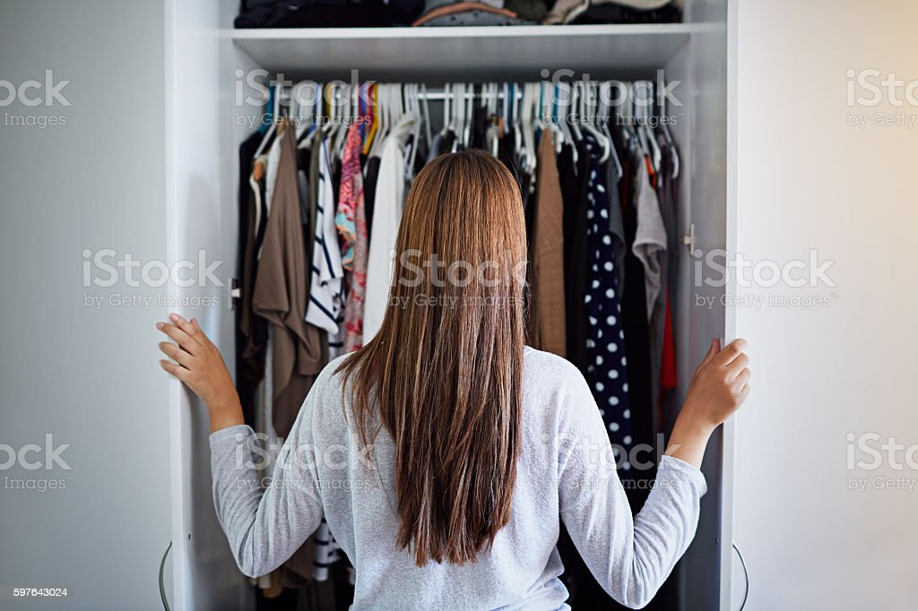 What to wear tonight? stock photo