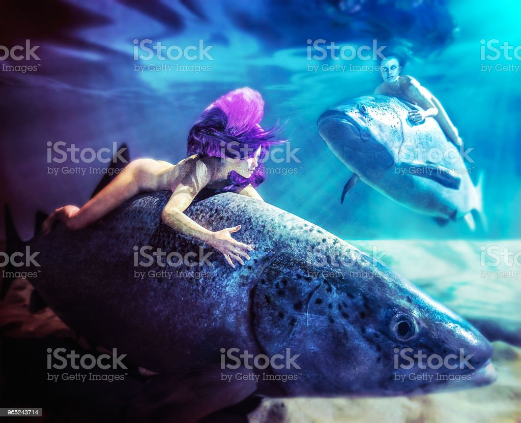 What We Do Not See Grows Us Humbler - Underwater Creatures royalty-free stock photo