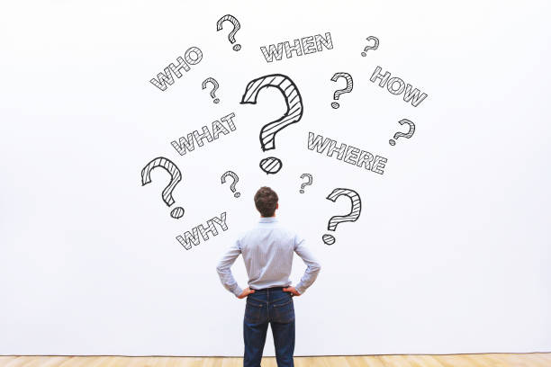 what, where, when, who and how, expert business advice concept - объяснять стоковые фото и изображения