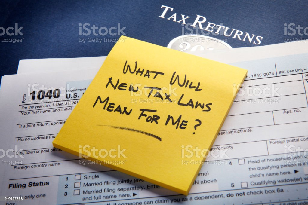 What Will New Tax Laws Mean For Me? stock photo
