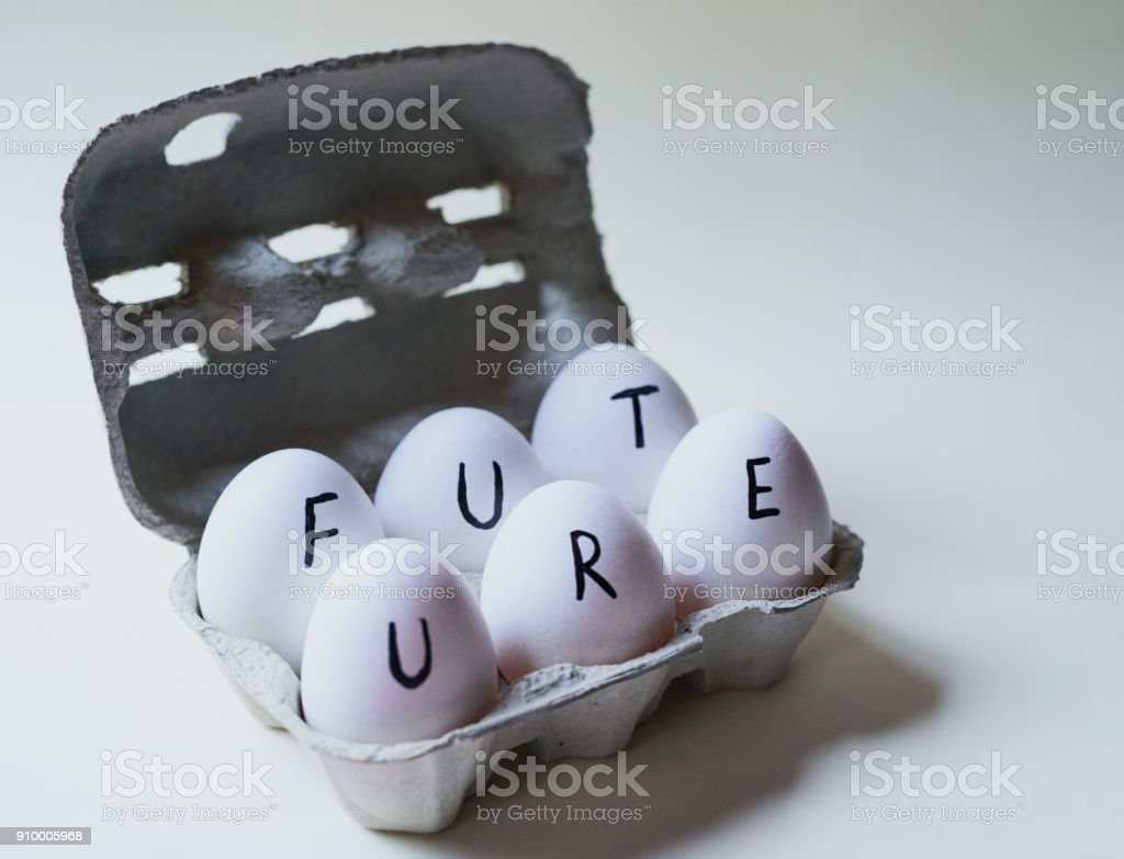What will the future hold? stock photo