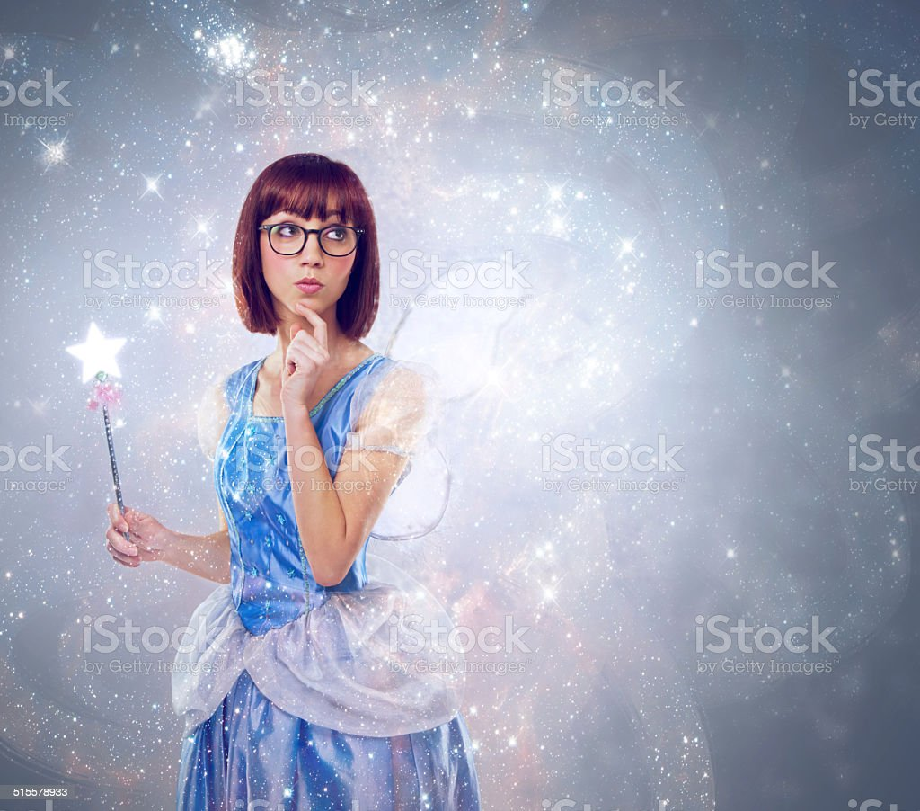 What wish should I grant next? stock photo