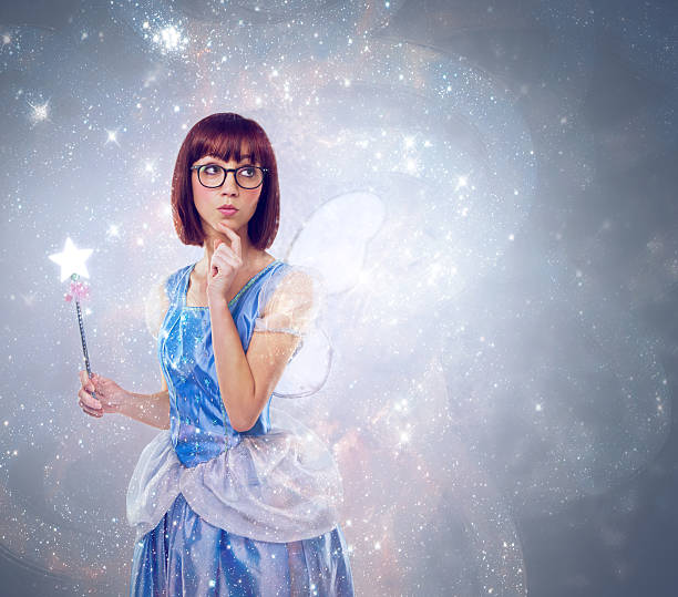 what wish should i grant next? - fairy wand stock photos and pictures