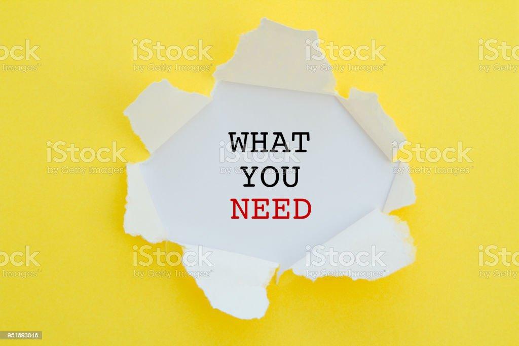 Ce dont vous avez besoin - Photo