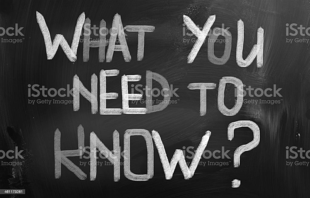 What You Need To Know Concept stock photo