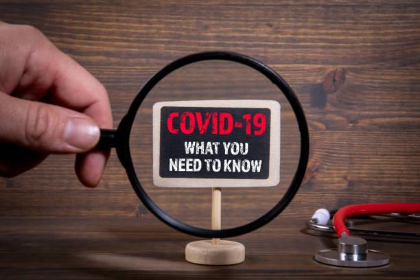 COVID-19. Was Sie wissen müssen. Untersuchung, Symptome, Anzeichen, Behandlungs- und Hygienekonzept – Foto