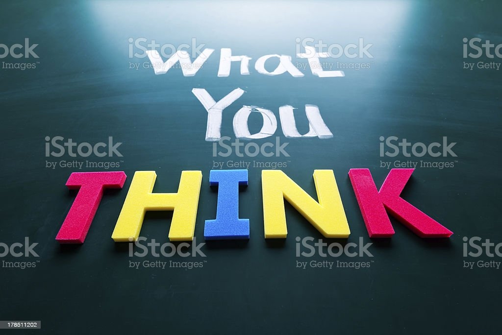 What you think concept royalty-free stock photo