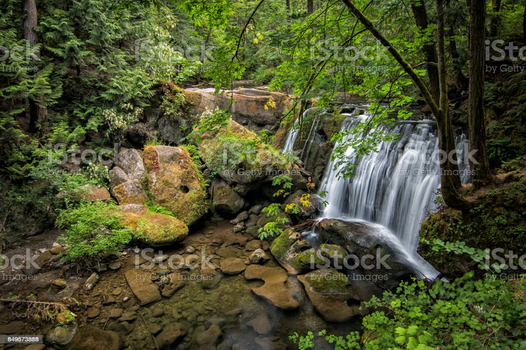 Whatcom Falls stock photo