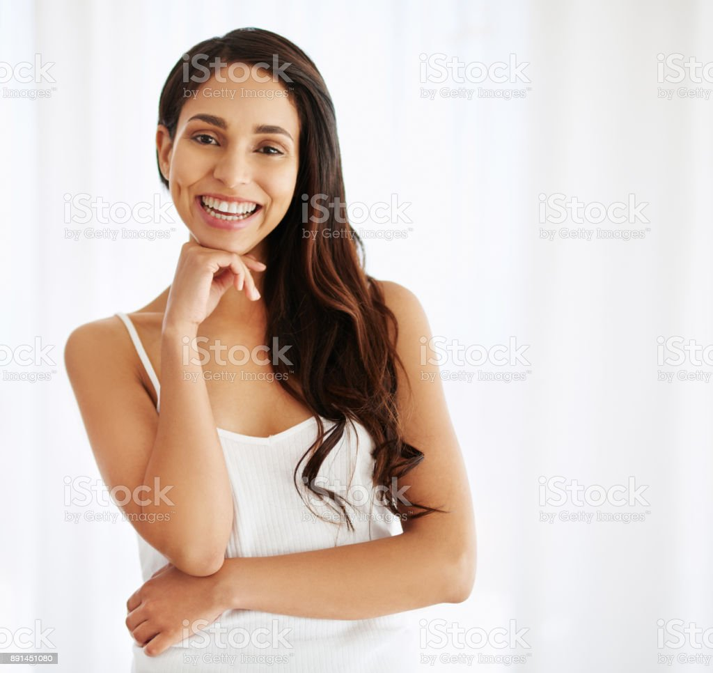 Whatever happens today, I'll keep smiling anyway stock photo