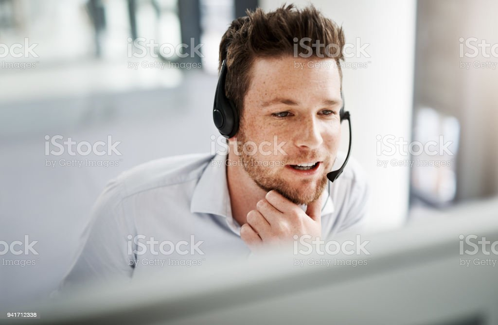 Whatever the query, he'll ensure an effective resolution stock photo