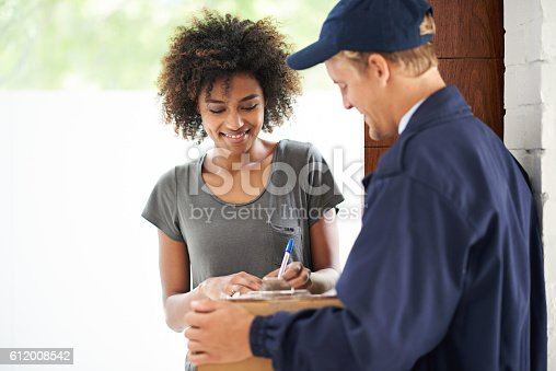 1053001624 istock photo Whatever you need can be delivered straight to your door 612008542